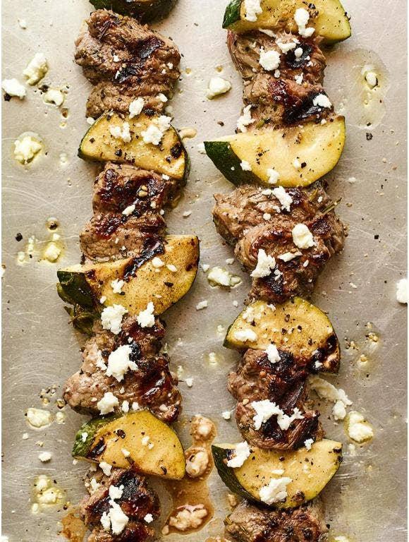 Lamb Zucchini Kabobs