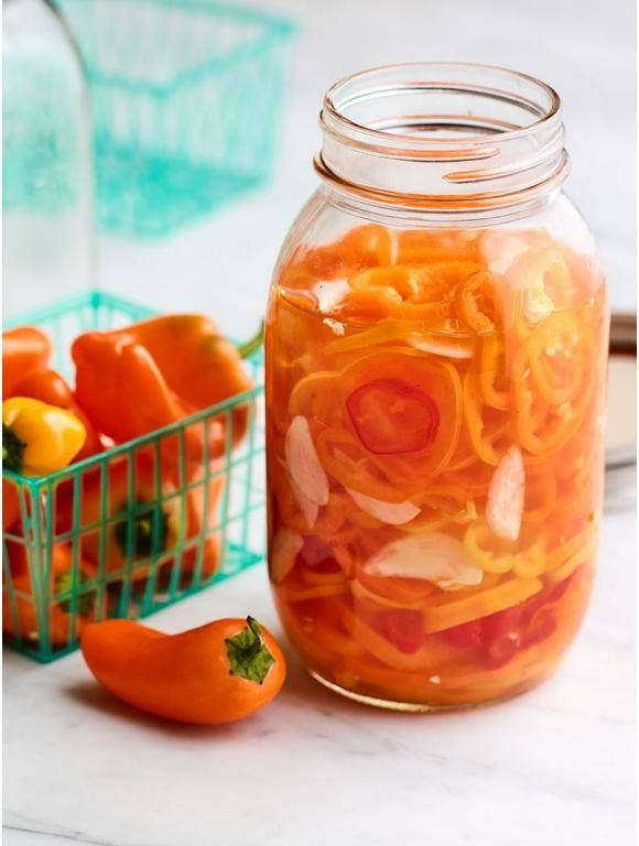 Quick Pickled Lunchbox Peppers