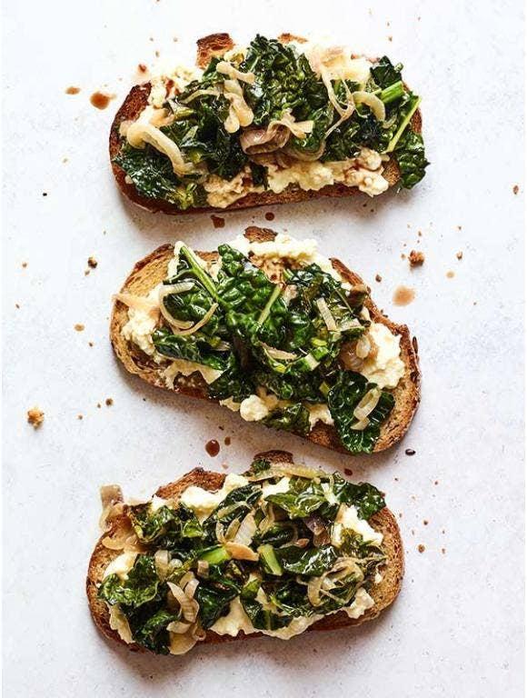 Kale & Ricotta Toast