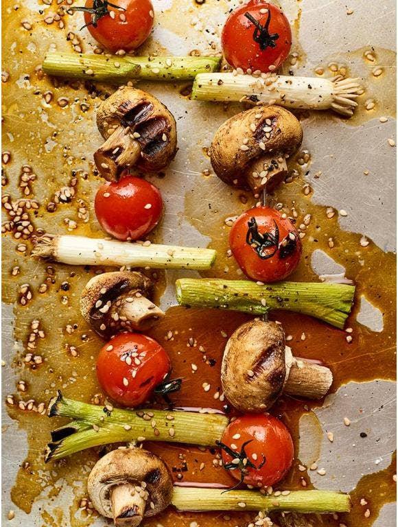 Sesame Vegetable Kabobs