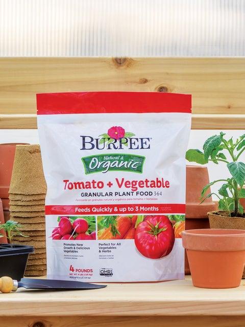 Burpee Organic Tomato + Vegetable Granular Plant Food 3-6-4