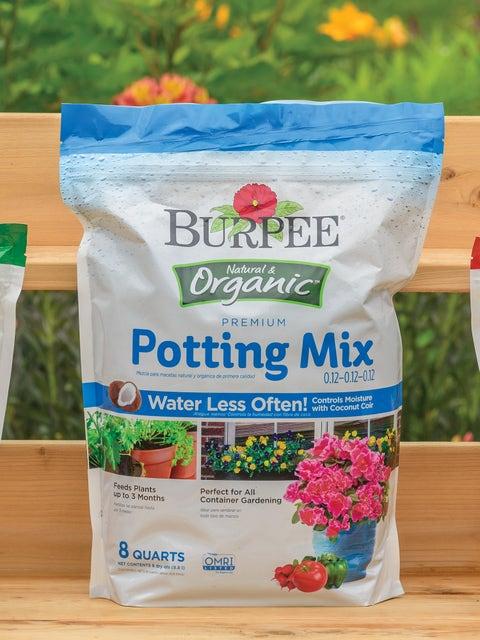 Burpee Natural Organic Premium Growing Mix 0.12-0.12-0.12