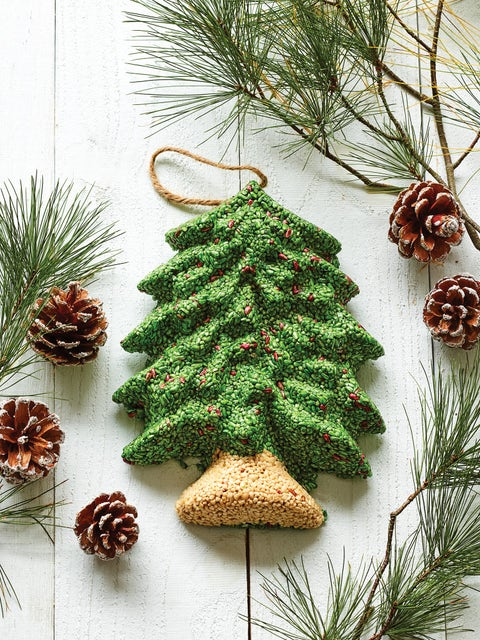 Wild Bird Seed Wreath, Merry Christmas Tree