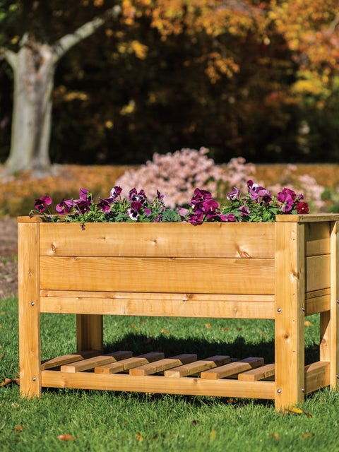 Elevated Planter Box with Shelf