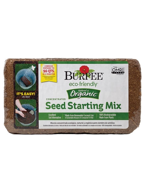 Organic Coconut Coir Concentrate Seed Starting Soil 2-pack