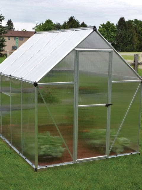 Multi Line™ 6 ft. x 8 ft. Twin-Wall Greenhouse, Silver