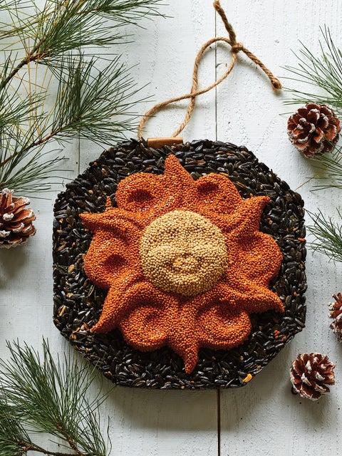 Wild Bird Seed Wreath, Sun Face