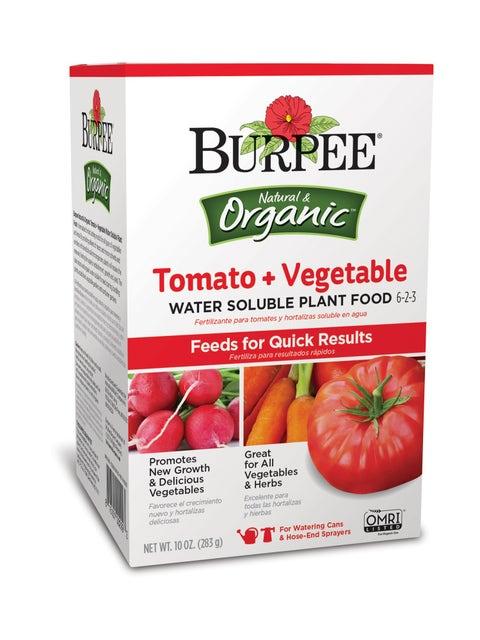 Burpee Organic Tomato + Vegetable Water Soluble Plant Food 6-2-3