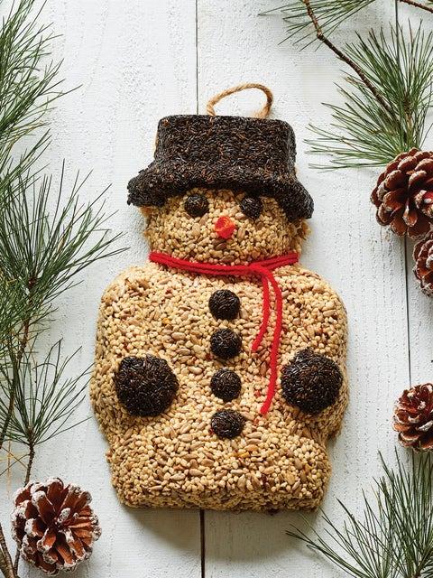 Wild Bird Seed Wreath, Snow Man