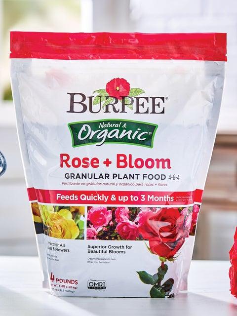 Burpee Natural Organic Rose Bloom Granular Plant Food 4-6-4
