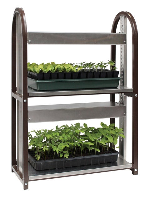 Grow Light Burpee LED Two Tier Cart